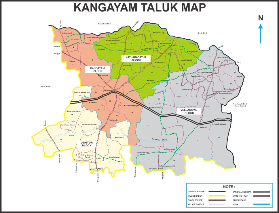 Kangayam Map